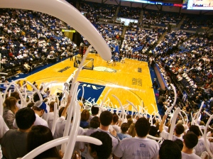 SLU students fiercely support for the currently ranked No. 18 men's basketball team.